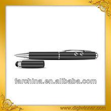 New design laser pointer led light ball pen stylus pen