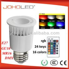 High quality ce rohs rgb led 4W e27 rgb led downlight