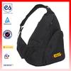 2013 plain beautiful black outdoor sports bag sport sling bag with shoulder strap(HC-A267)