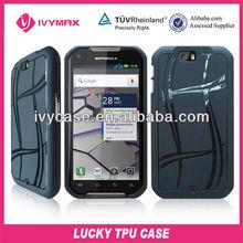 for motorola XT626 Double V negro tpu gel cases