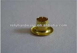 Tarpaulin brass garment eyelet