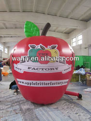 Advertising giant inflatable apple