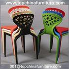 Hot sale dining plastic chair chromed legs