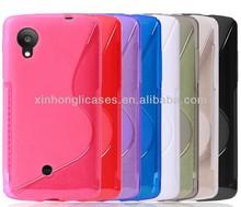S line matte soft tpu case cover For google,lg Nexus5