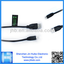 For Moto 3 feet Black V3/mini USB Charging and Sync Data Cable with V3/mini USB2.0 Plug for Moto X Series By Jin Huibo
