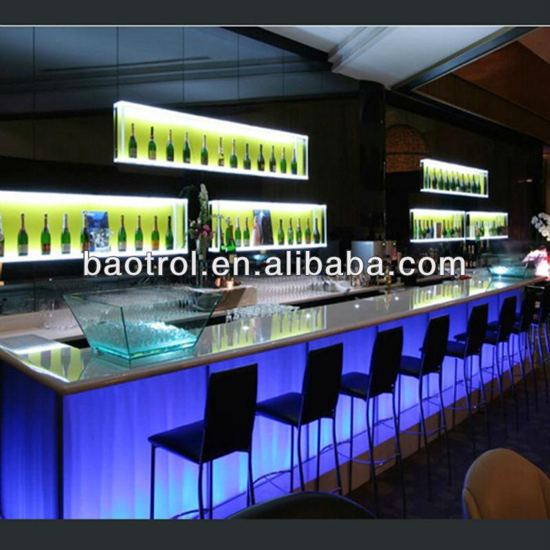 Acrylic bar top solid surface fast food bar receiption view acrylic bar top baotrol product - Moderne lounge en voormalig ...