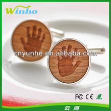 Personalised Wooden Handprint Cufflinks