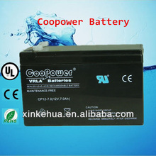 sealed lead acid 12v7.2ah battery for fire alarm system