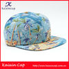 Hawaii style printing designs snapback cap 6 panels structured hat