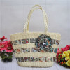 Top selling stylish nice lady straw bags factory price T820