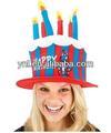 Carnaval/partido decoração gato no chapéu do bolo de aniversário chapéu