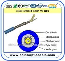 LSZH/PVC Steel braiding Armored Indoor single mode fiber