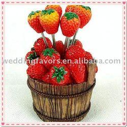 Wedding Gift Strawberry Design Fruit Fork