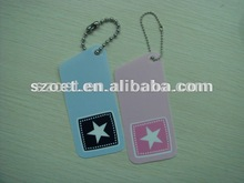 Plastic PP/PVC bag/purse hanger/sign/label/tag with customized design