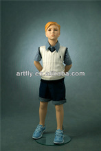 dress up realistic kids display mannequins with hair on sale