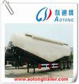Tri- eje 45m3 carga seca a granel silo de cemento/tanque semi remolque de camiones para la venta( volum opcional)