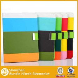 High quality Rainbow PU Leathr Case for iPad air 5, stand case for ipad air