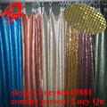 Di rame di alta qualità tendaggi colorati paillettes metalliche tenda(15 anni fabbrica)