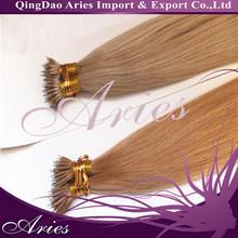 Best quality remy european nano beads nano hair/nano hair extension/nano ring hair extension