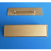 Sandblasting gold bronze metal blank name plate badge safety pin