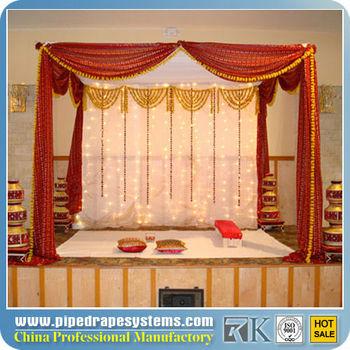 2013 New light weight wedding mandap stand with drapery