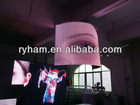 xxx video led flexible curtain for outdoor advertising