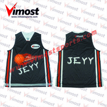 Custom 100%polyester basketball uniform