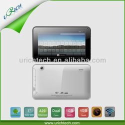 A20 Dual Core Mid Tablet Pc Cortex A7 1.5ghz 7 Inch Irobot Android 2.2
