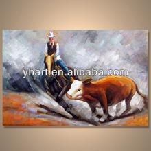 Modern handmade newest figure art gallery painting supplier ---Cowboy