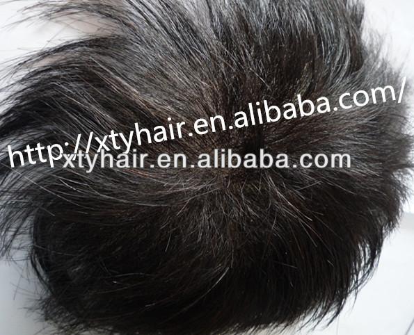 women toupee grade 5a human hair thin PU system hair piece with safe glue for skin natural woman human hair top wig thin skin