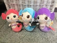 Happy cute little mermaid toys soft toys stuffed