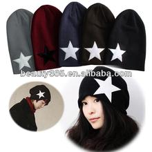 New Fashion Korean UNISEX Men & Women Star Knit Hat Skull Cap Ski Knit Hat