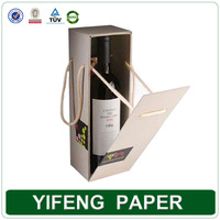 Customize High Quality Creative Folding Single Wine Packaging Box With Rope