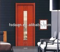 elegante entrada principal de la puerta de madera con vidrio