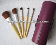 Hot Sale! Purple Case 5pcs Makeup Brush set color shine makeup brushes best professional makeup brushes