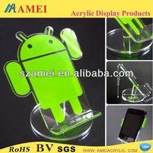 customized acrylic cell phone credit card holder/POP acrylic cell phone credit card holder