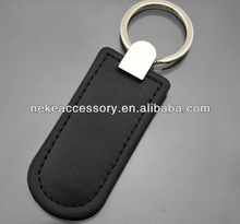 promotional real genuine leather key chain with custom logo