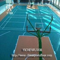 Self adhesive basketball plastic flooring covering