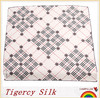 2014 Line And Diamonds Printed Own Design Raw Silk Scarf