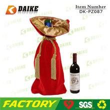 High Quality Top grade gift drawstring velvet wine bag DK-PZ087