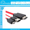 Colorful 2M MHL Micro USB Adapter For i9300 Note 2 N7100 With Retail Box