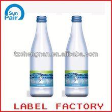 plastic shrink wrap bottle labels for bottle packaging