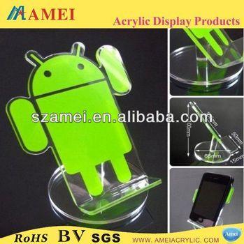 customized acrylic sock mobile phone holder/POP acrylic sock mobile phone holder