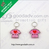 Lovely Gift Low price Environment friendly clear plastic acrylic keychains