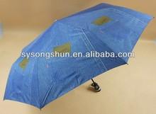 Fashion Jean style 3 Fold umbrella