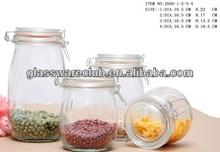 vasilhas de vidro com tampas de vidro