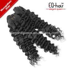 4A Raw Virgin Mongolian Deep Curly Wavy Natural Color