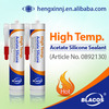 High temp. Acetic clear adhesive