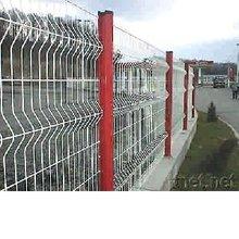 Temporary Fence,PVC coating,galvanized,Peach type column