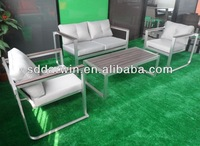modern rattan leather sofa DW-SF060